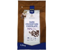 Metro Chef Čokoládové čočky hořká čokoláda 72% 1x2,5kg