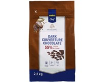 Metro Chef Čokoládové čočky hořká čokoláda 55% 1x2,5kg