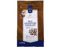 Metro Chef Čokoládové čočky mléčná čokoláda 31% 1x2,5kg