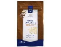 Metro Chef Čokoládové čočky bílá čokoláda 30% 1x2,5kg