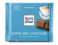 Ritter Sport Alpine Milk Chocolate Mléčná čokoláda 12x100g