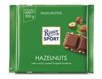 Ritter Sport Nuss-Splitter/ Haselnuss Čokoláda lískový ořech 12x100g