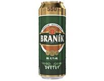 Braník světlé výčepní pivo 24x550ml plech
