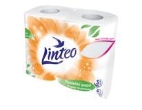 Linteo Toaletní papír 3-vrstvý bílý 1x4ks
