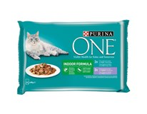 Purina One Indoor Kapsička mix 4x85g
