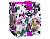 Present Pets Interaktivní štěňátka módní - růžová krabička 1ks