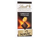 Lindt Excellence Čokoláda Apricot meruňka 3x100g