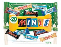 Winter Minis Mix Bag - Bounty, Mars, Milky Way, Snickers, Twix 1x400g