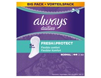 Always Dailies Intim Slipové vložky Fresh&Protect Regular 1x60ks