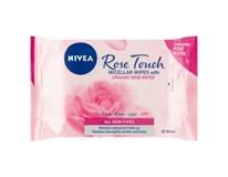 Nivea Rose Touch Micelární čisticí pleťové ubrousky 1x25ks