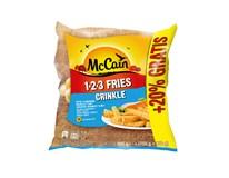 McCain 123 Fries Crinkle mraž. 12x750g+20%