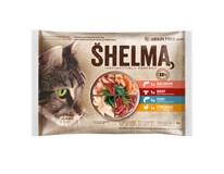 Shelma Kapsička pro kočky maso/ryba 4x85g