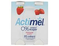 Actimel Jogurtový nápoj 0% Jahoda bez přidaného cukru chlaz. 4x100g