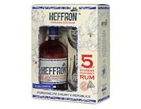 Heffron Rum 38% 1x500ml + 2 skleničky