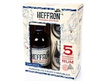 Heffron Rum 38% 6x500ml + 2 skleničky