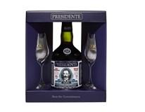 Presidente 15 anos Rum 1x700ml + 2 skleničky