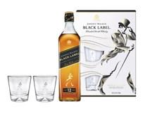 Johnnie Walker Black 40% 1x700ml +skleničky