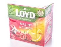 Loyd Čaj malina/citron pyramidový 20x2g