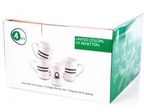 Hrnek Benetton B&W 360ml porcelán 4ks