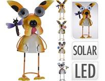 Dekorace solární kovová 4ASS 1ks