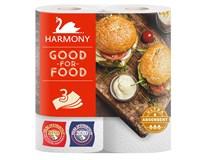 Harmony Kuchyňské utěrky Good for Food 3-vrstvé 2ks