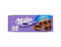Milka Oreo Sandwich mléčná čokoláda a sušenky 16x92g