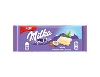 Milka bílá čokoláda mandle a kokos 22x90g