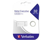 USB Metal Verbatim 32GB silver 1ks