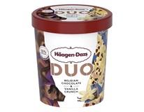 Häagen Dazs Duo Zmrzlina belgická čokoláda a vanilka mraž. 1x420ml