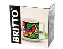 Šapo Bergner Britto Heart porcelán 90ml 1ks