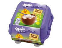 Milka Egg 'n' Spoon Milk Cream čokoládová vajíčka s mléčnou náplní 1x136g