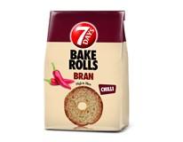 7Days Bake Rolls Bran Křupavé chipsy chilli 14x80g