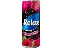 Relax Limonáda cola malina 12x330ml plech