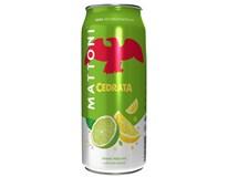 Mattoni Cedrata/ Citrusy Ochucená minerální voda 24x500ml plech