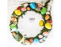 Věneček velikonoční barevný 1ks