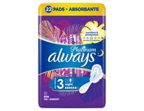 Always Ultra Platinum Night (Velikost 3) Noční dámské vložky s křidélky 1x22ks