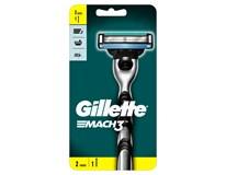 Gillette Mach3 Rukojeť holicího strojku + 2 náhradní holicí hlavice 1x1ks