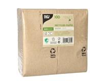 Ubrousky 3-vrstvé 33x33cm papírové recykl. 100ks