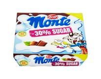 Zott Monte Mléčný dezert čokoládový s lískovými oříšky (-30% cukru) 4x55g