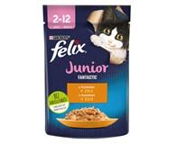 Felix Fantastic Junior Kapsy pro kočky kuře 26x85g