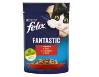 Felix Fantastic Kapsy pro kočky hovězí v želé 26x85g