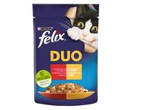 Felix Fantastic Duo Kapsy pro kočky hovězí/drůbeží 26x85g