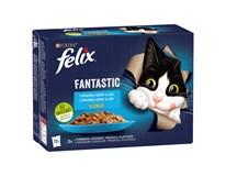Felix Fantastic Kapsy pro kočky losos/platýs/tuňák/treska 12x85g