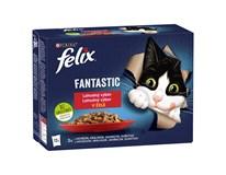 Felix Fantastic Kapsy pro kočky kuřecí/hovězí/králičí/jehněčí 12x85g