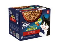 Felix Sensations Kapsy pro kočky hovězí/kuřecí/kachní 24x85g