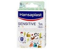 Hansaplast Sensitive Kids Dětské náplasti pro citlivou pokožku motiv zvířátek 1mx6cm 1ks