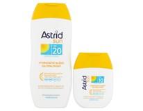 Astrid Sun Mléko hydratační na opalování OF20 1x200ml + Mléko na opalování OF10 1x80ml