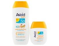 Astrid Sun Dětské mléko na opalování OF50 200ml + Hydratační mléko na opal. OF15 1x80ml