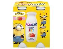 Danone Actimel Kids Nápoj probiotický jogurtový jahoda/banán chlaz. 4x100g