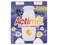 Actimel Jogurtový nápoj s vitamínem C borůvka/černý rybíz chlaz. 4x100g